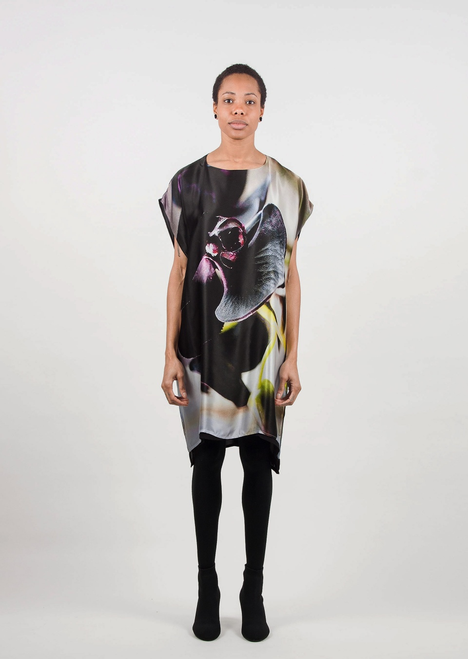 by , Kleid mit Orchideenprint,